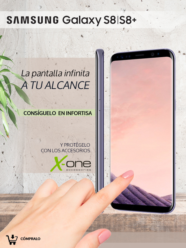 Samsung Galaxy S8 y S8 plus en Infortisa